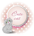 cute cat draw vector image