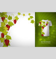 design for shirts blouses t-shirt grapes vector image
