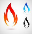 Fire elements vector image vector image