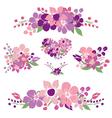 floral bouquets set vector image vector image