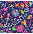 Floral cartoon seamless pattern vector image vector image