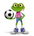 Frog soccer player vector image