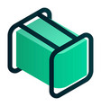 fuel electric generator icon isometric style vector image vector image