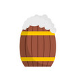 full barrel icon flat style vector image vector image