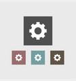 gear icon simple vector image vector image