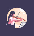 girl playing violin vector image vector image