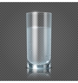 Glass of water isolated on transparent checkered vector image vector image