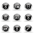 Glossy icon set 25 vector image vector image
