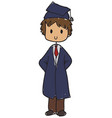 graduated student vector image