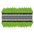 green leaves tires vector image vector image