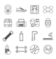 Gym Icons set outline style vector image vector image