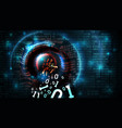 hacking abstract database firewall computer vector image vector image