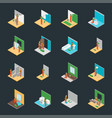 home repair worker people 3d icons set isometric vector image