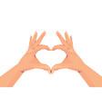 human hands making heart shape gesture vector image