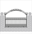Iron fence with bow vector image vector image