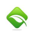 leaf icon bio ecology logo vector image