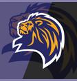 lion head logo esport mascot design vector image vector image