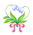 little floral bouquet in form of heart vector image vector image