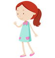 Little girl waving her hand vector image vector image