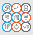 management icons set with task list promotion vector image vector image