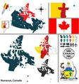 Map of Nunavut vector image vector image