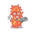 mascot design concept bacteroides gamer using vector image vector image