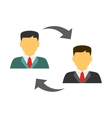 Men exchanging flat icon vector image vector image