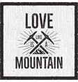outdoors logo emblem vintage hand drawn mountains vector image vector image