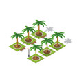 park nature with trees landscape vector image vector image