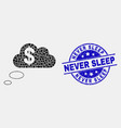pixelated financial dream clouds icon and vector image vector image