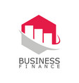 polygon trade business finance logo vector image vector image