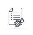 project management line icon clipboard vector image vector image