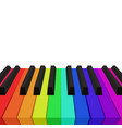 rainbow colored piano keys element for y vector image vector image