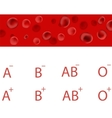 Red Blood Cells Bloods Types Medical Background vector image