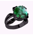 Ring with stone vector image vector image