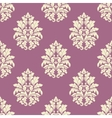 Seamless lush blooming damask flowers pattern vector image vector image