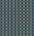 Seamless rainbow pattern tile vector image