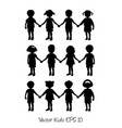 set of avatar children head vector image