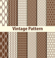Set of nine seamless pattern in retro style vector image vector image