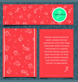 set of templates for flyers and banners of a vector image