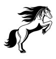 sign of horse vector image