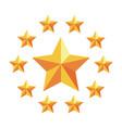 star frame stars emblem vector image