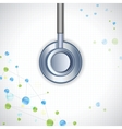 Stethoscope on Medical Background vector image