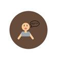 stylish icon in color circle man attack stroke vector image vector image