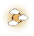 Three clouds communicating with each other icon vector image vector image