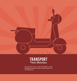transport scooter vehicle design vector image vector image