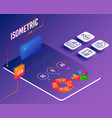 update time contactless payment and blocked card vector image vector image