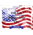 vintage american flag happy independence day vector image