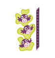 wall meter with good birds with big eyes sticker vector image vector image