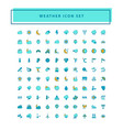 weather icon set with filled outline style design vector image